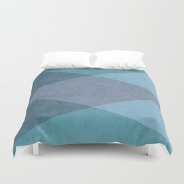 the blue triangles Duvet Cover