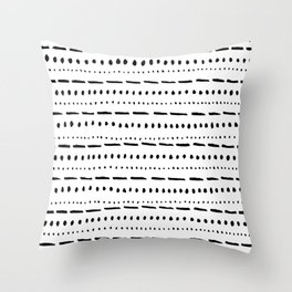Dot Dot Dash Throw Pillow