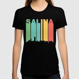 Retro 1970's Style Salina Kansas Skyline T-shirt