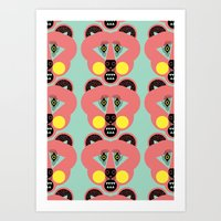 Grizzly Bear Necessities Art Print
