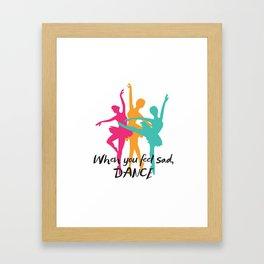 Dancer , ballet , ballerina , Framed Art Print