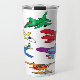 Colorful Airplanes Travel Mug