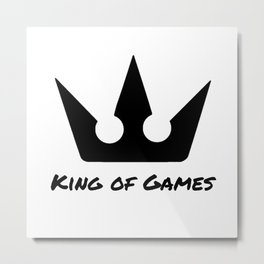 The King of Games Metal Print