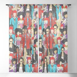Retro Party 1 Sheer Curtain