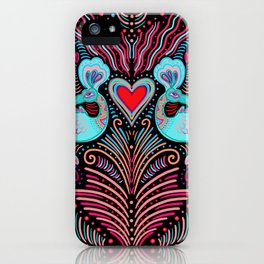 Peacock Valentines iPhone Case