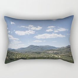 Mountains and Olive Trees Rectangular Pillow