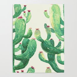 two big cactus Poster