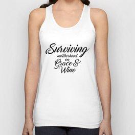 Surviving... Inspirational Quote Unisex Tank Top