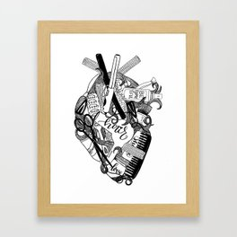 Heart of a stylist Framed Art Print