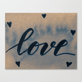 Valentine's Day Watercolor Love – neutral Canvas Print
