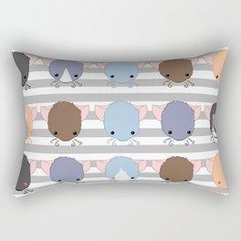 Rattie Faces Rectangular Pillow