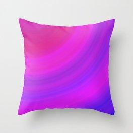 Neon Pink Blue Circles Throw Pillow