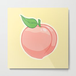 Peachy Metal Print