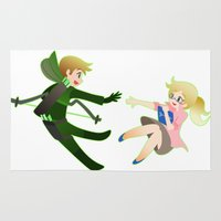 green arrow Area & Throw Rugs featuring Arrow - Olicity by Choco-Minto