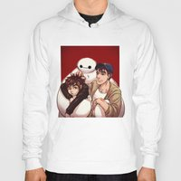 big hero 6 Hoodies featuring Big Hero 6  by Arashi.C