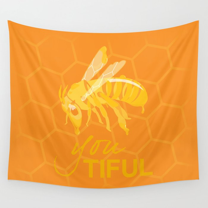 Bee You Tiful  Wall Tapestry