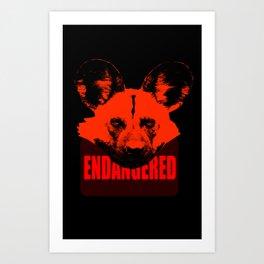 Endangered African Wild Dog Art Print