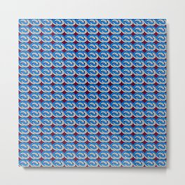 Modius Loop Blue/Gray on Burgundy Metal Print