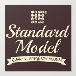 The Standard Model Canvas Print