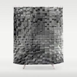 Three Dimensional cubes Shower Curtain