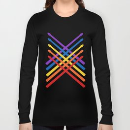 Retro Musician Drum Sticks Long Sleeve T-shirt