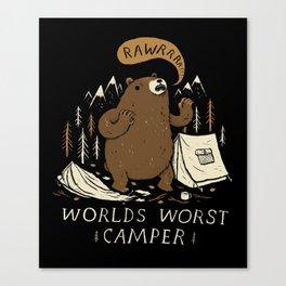 worlds worst camper Canvas Print