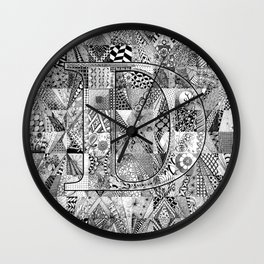 The Letter D Wall Clock