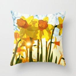 intence yellow Throw Pillow