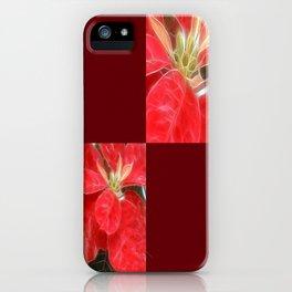 Mottled Red Poinsettia 1 Ephemeral Blank Q10F0 iPhone Case