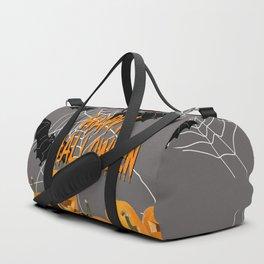 Pumpkins Happy Halloween Illustration Duffle Bag