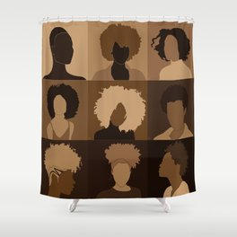 FOR BROWN GIRLS COLLECTION COLLAGE Shower Curtain