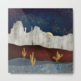 Moonlit Desert Metal Print