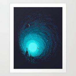 Calm Night To Fly Art Print