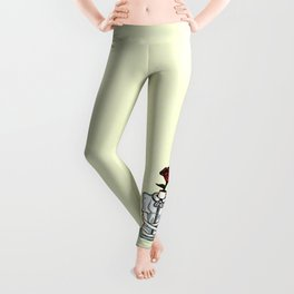 Abstract Indie Floral Girl: Flowers on My Mind Leggings