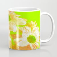 vintage flowers Mugs featuring Vintage Flowers by Vitta