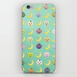Pastel Moon Babies iPhone Skin