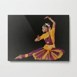 Bharathanatyam Dancer Metal Print