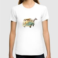 beach T-shirts featuring NEVER STOP EXPLORING THE BEACH by Monika Strigel