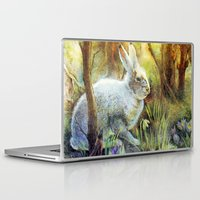 hare Laptop & iPad Skins featuring Hare by Natalie Berman