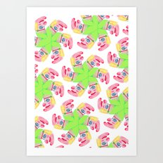 Punchy Colours Art Print