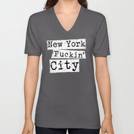 Funny New York City NYC Vulgar product Big Apple Fans Unisex V-Neck
