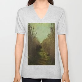 The path into the unknown Unisex V-Neck