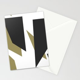 Black Gold Shard Cascade Pattern White Luxe Stationery Cards