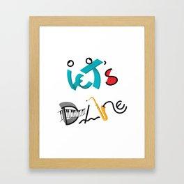 Type Let's Dance Framed Art Print