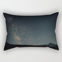 Milky Way over Mount Hood Rectangular Pillow