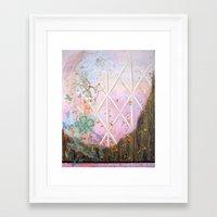 alisa burke Framed Art Prints featuring for alisa by Jennifer Ellen McGovern