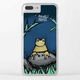 Coaching at night Clear iPhone Case