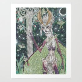 Queen of the Lunas Art Print