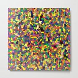 Multicolor Texture Metal Print