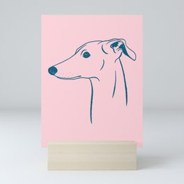 Italian Greyhound (Pink and Blue) Mini Art Print